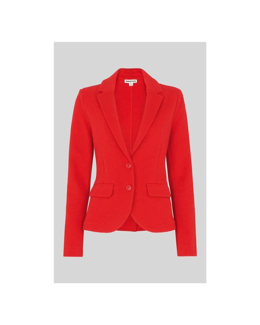 Whistles - Red Slim Jersey Jacket - Lyst