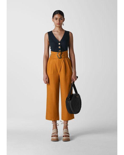 Whistles Multicolor Amelie Paper Bag Trouser