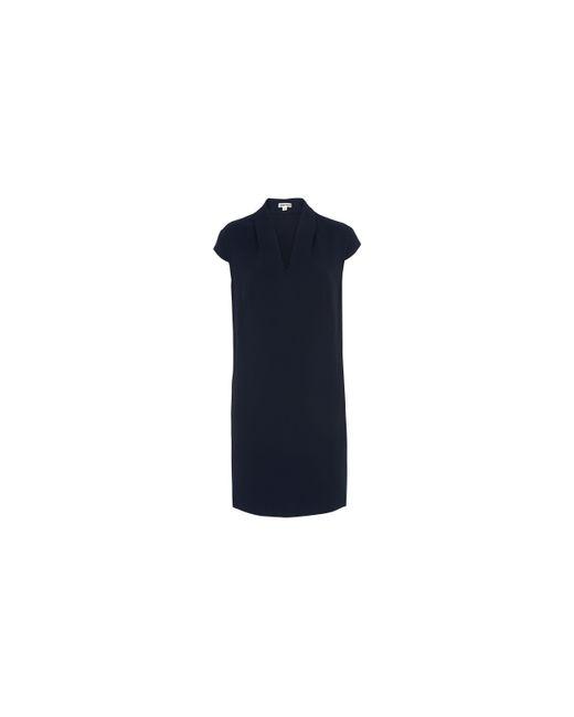 Whistles | Blue Paige V-neck Crepe Dress | Lyst