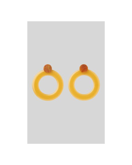 Whistles - Yellow Large Ring Resin Earring - Lyst