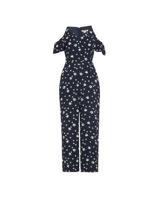 Whistles - Blue Mini Tulip Print Jumpsuit - Lyst