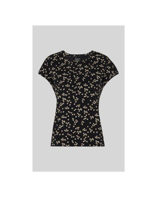 Whistles - Black Daisy Print Minimal Tee - Lyst