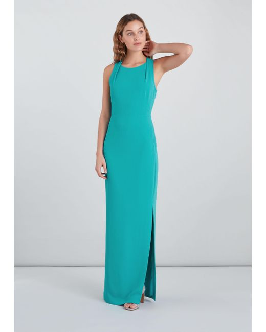 Whistles Blue Tie Back Maxi Dress