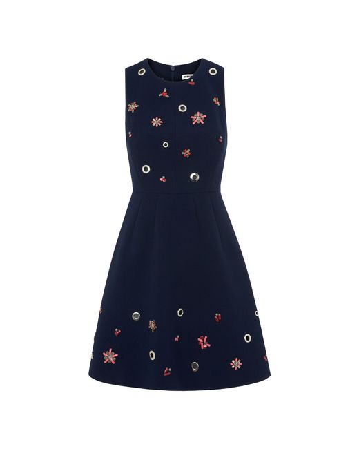 Whistles - Blue Willow Embellished Dress - Lyst