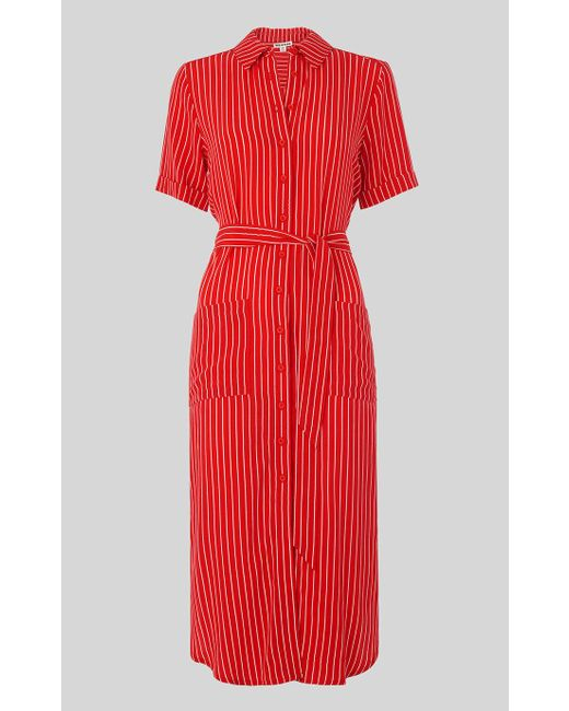 newest selection fast color attractive style Women's Red Montana Stripe Shirt Dress