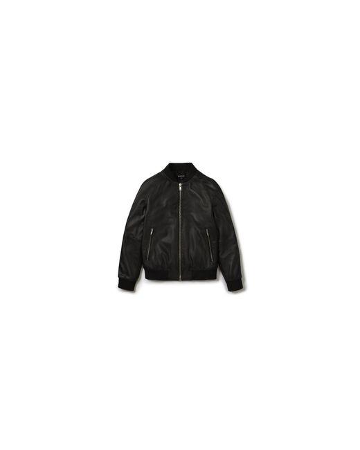 Whistles - Black Leather Bomber for Men - Lyst