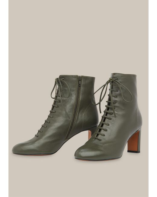 Whistles Leather Dahlia Lace Up Boot in
