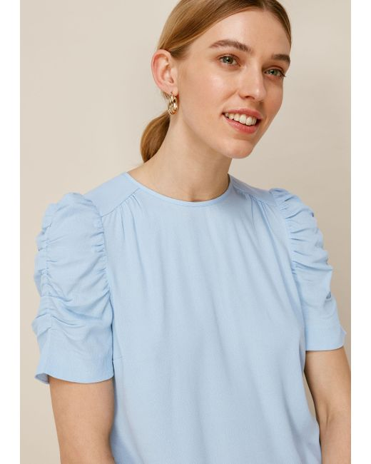 Whistles Blue Nelly Shell Top