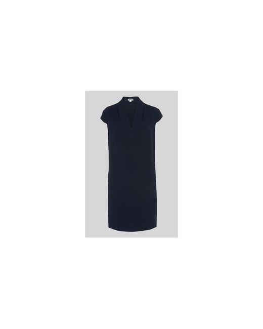 Whistles - Blue Paige V Neck Crepe Dress - Lyst