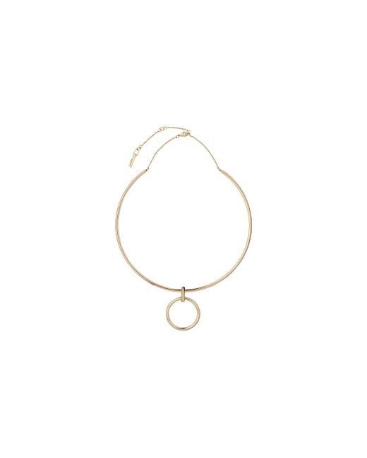 Whistles   Metallic Hung Hoop Necklace   Lyst