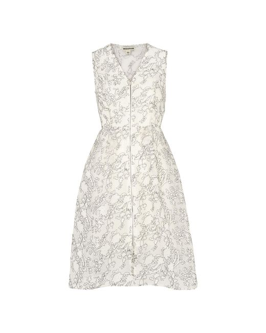 Whistles - White Marrion Double Layer Dress - Lyst