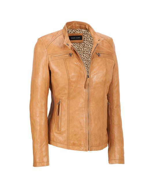 Wilsons Leather - Brown Plus Size Black Rivet Center Zip Lamb Scuba - Lyst