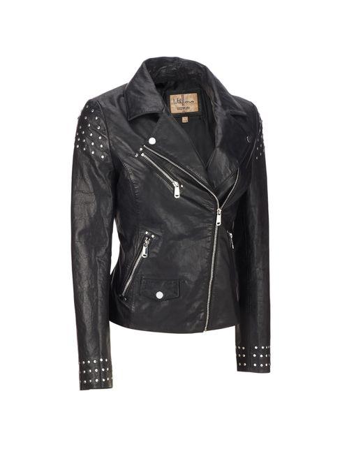 Wilsons Leather Black Vintage Asymmetrical Moto Leather Jacket