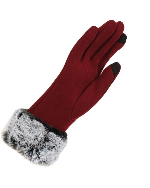 687e1b616b2 Lyst Wilsons Leather Micro Velvet Touchpoint Glove W Faux Fur