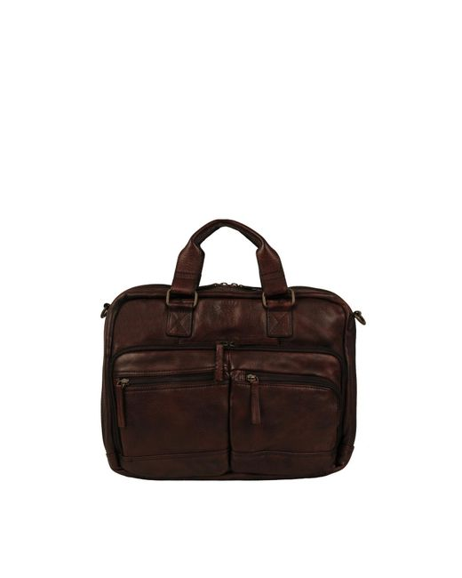 Wilsons Leather Brown Seattle Vintage Leather Briefcase for men