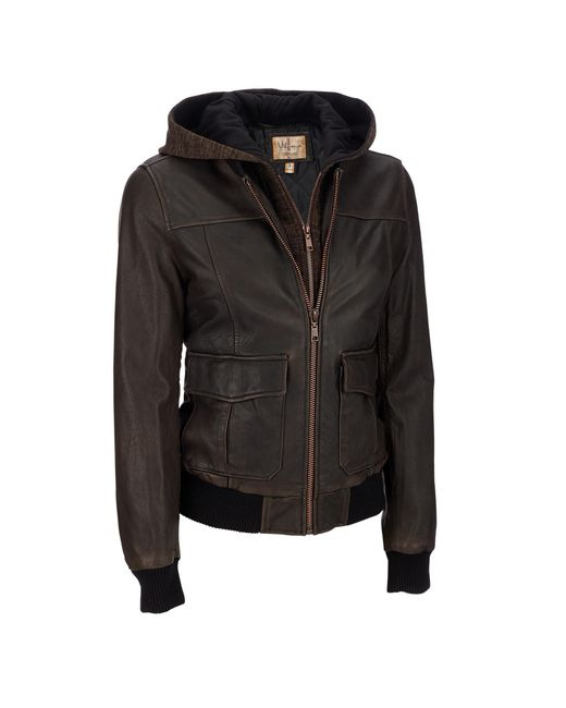 Wilsons Leather - Brown Vintage Genuine Leather Jacket W/ Removable Hood - Lyst