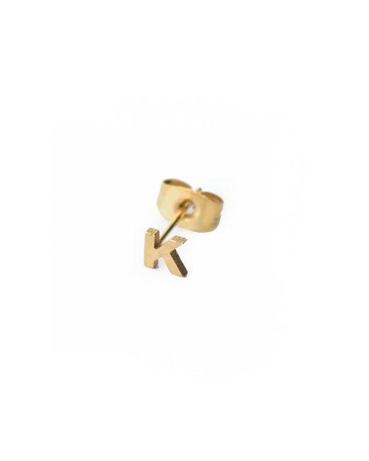 Whistle & Bango - Metallic Little Letter K Earring 18ct Plating - Lyst