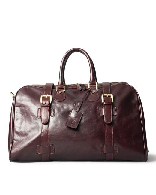 Maxwell Scott Bags | Luxury Italian Leather Medium Travel Bag Flero M Dark Chocolate Brown | Lyst