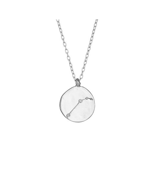 Chupi - Metallic Aries We Are All Made Of Stars Star Sign Necklace In Silver - Lyst