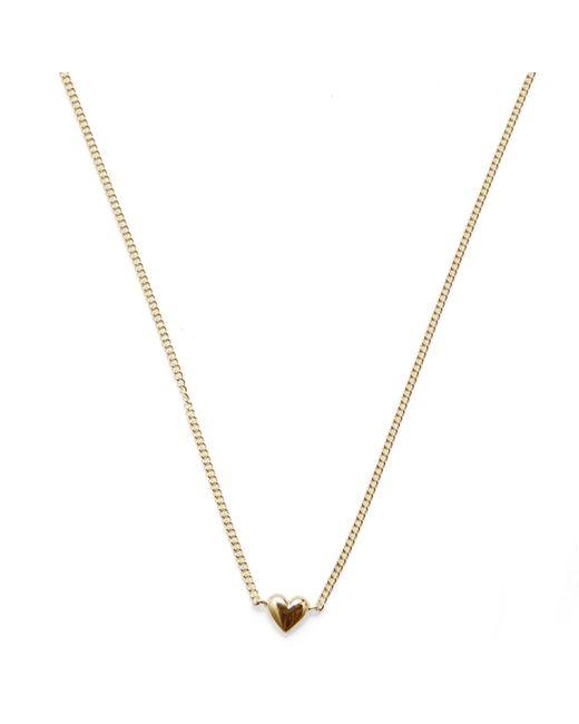 Isabel Lennse - Metallic Mini Heart Gold Necklace - Lyst