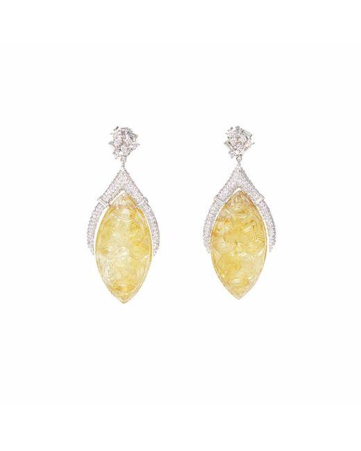 Ri Noor - Yellow Carved Citrine Earrings - Lyst