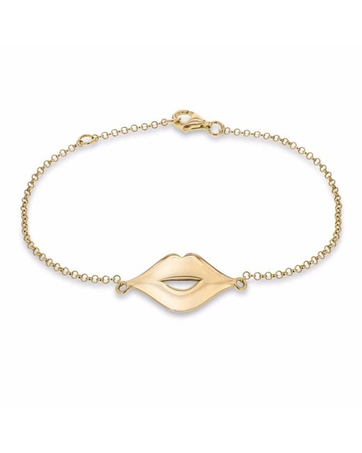 True Rocks - Metallic Lips Bracelet Yellow Gold - Lyst