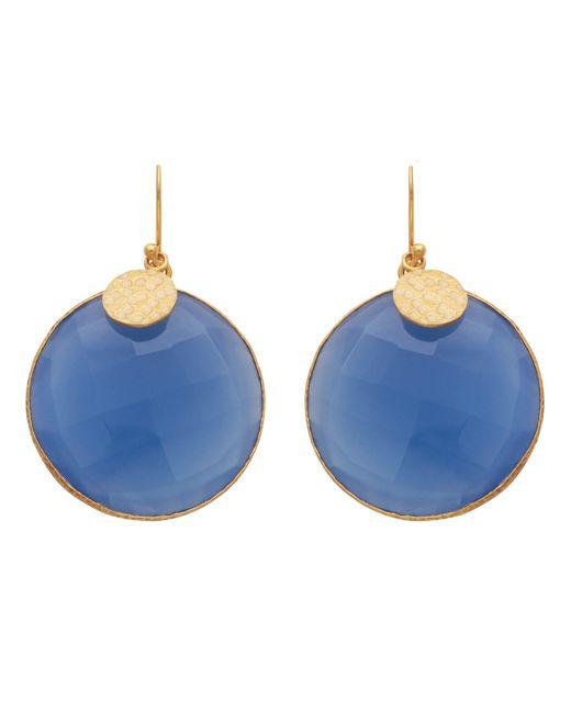 Carousel Jewels - Blue Quartz Disc Earrings - Lyst