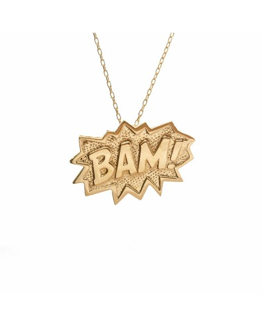Edge Only | Metallic Pow Pendant Extra Large In Gold | Lyst