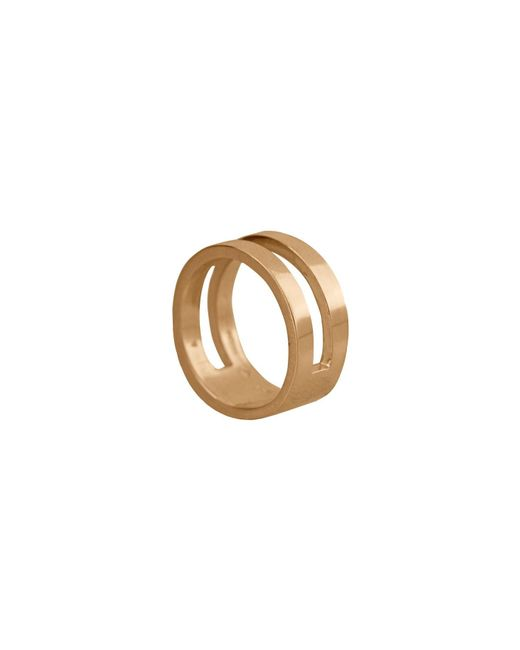 Edge Only - Metallic Parallel Ring In 14ct Gold - Lyst