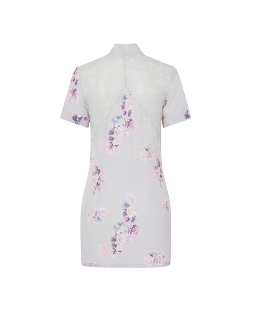 Sophie Cameron Davies Multicolor Silk Bow Dress Rose Print