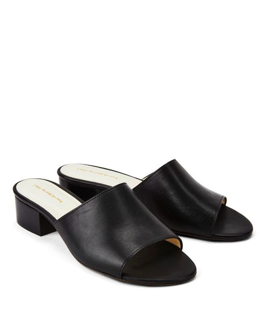NINE TO FIVE - Mule Slides Maia Black - Lyst