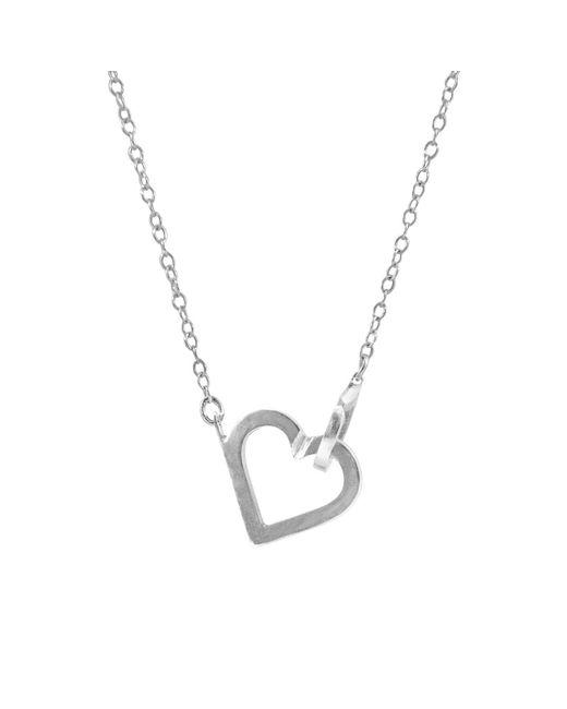 Anchor & Crew - Metallic Little Heart Link Paradise Silver Necklace Pendant - Lyst