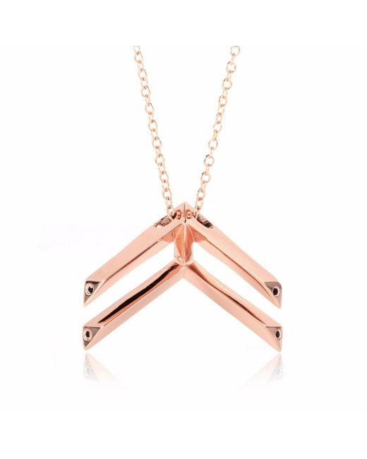 Sonal Bhaskaran - Metallic Pala Chevron Necklace Rose Gold - Lyst