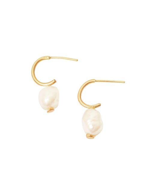 Lily Flo Jewellery - Metallic Diana Baroque Pearl Hoop Earrings - Lyst