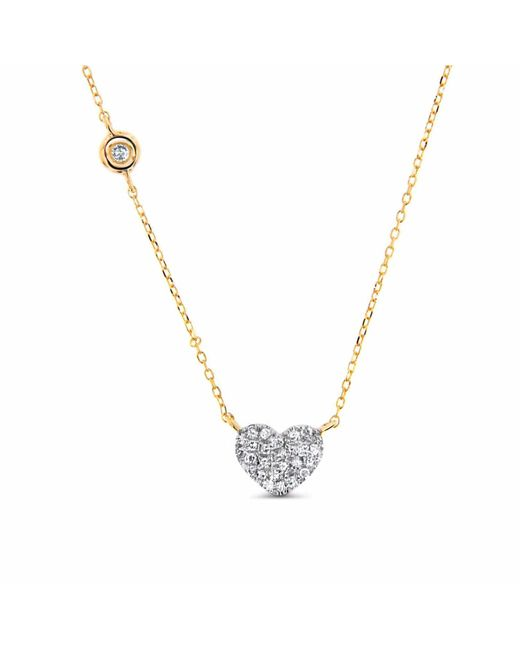 Cosanuova - Metallic Heart Necklace 14k Yellow Gold - Lyst