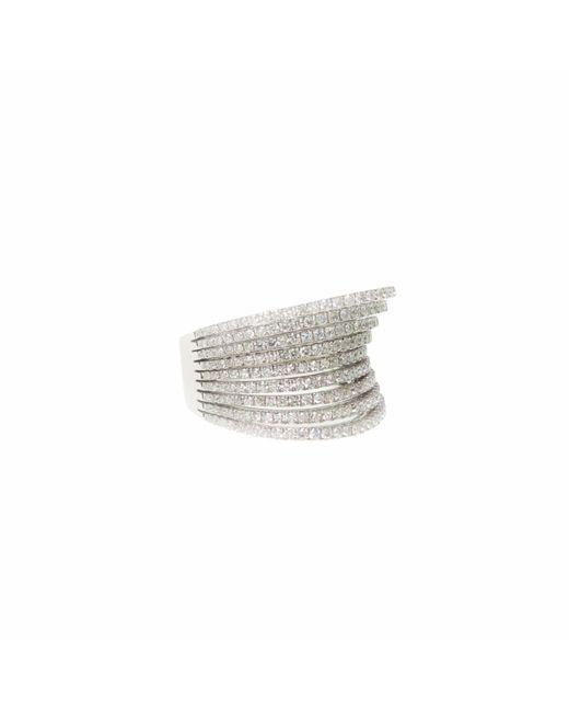 Ri Noor - Metallic Diamond Rows Ring - Lyst