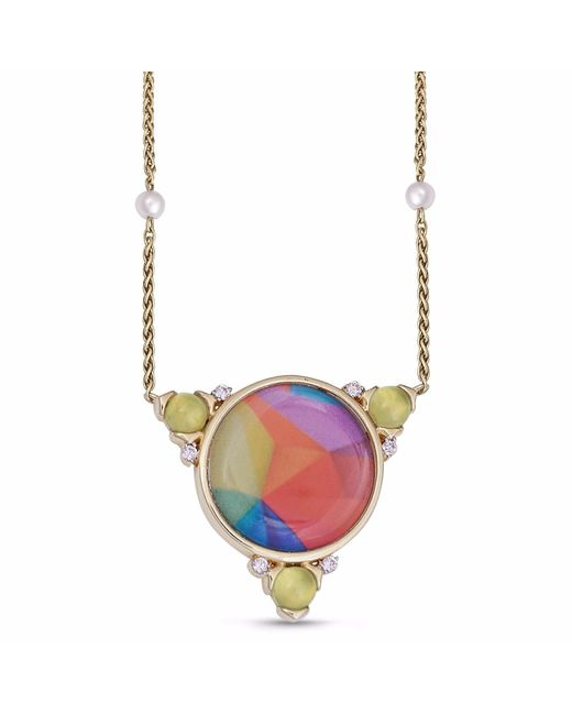 LMJ | Metallic Sprinkle Of Color Necklace | Lyst
