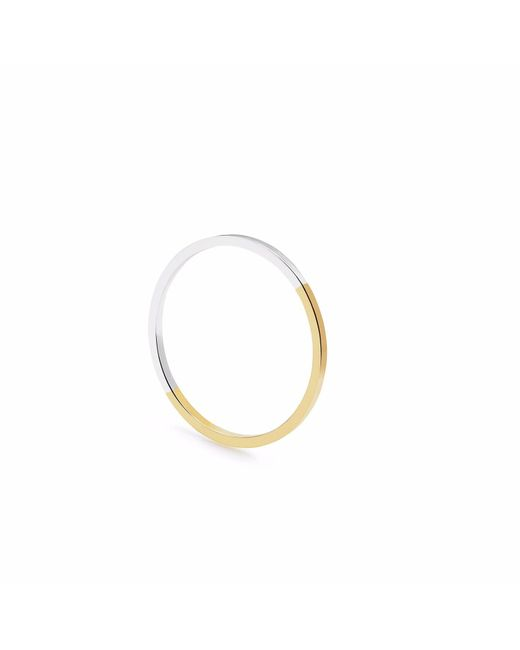 Myia Bonner | Metallic Two Tone Ultra Skinny Square Stacking Ring | Lyst