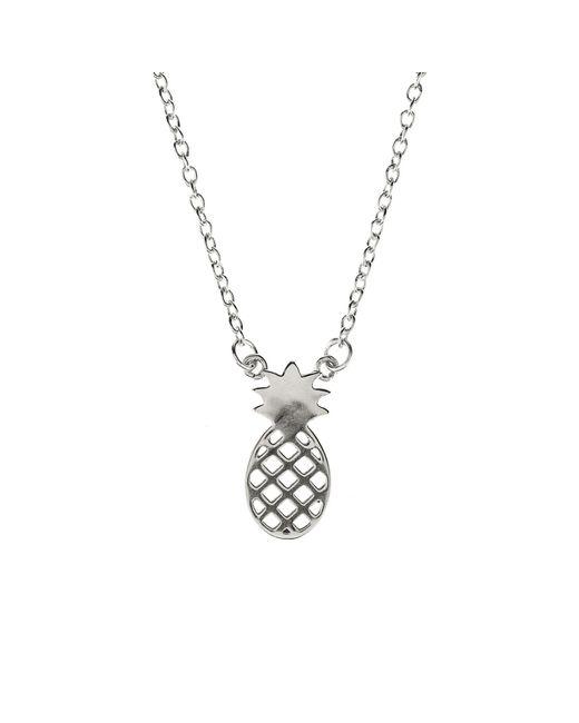 Latelita London - Metallic Cosmic Pineapple Necklace Silver - Lyst