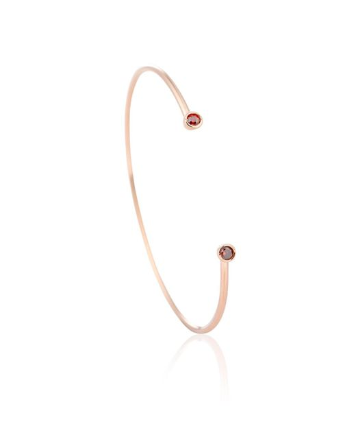 Astrid & Miyu | Metallic Rose Gold Pisces Bangle | Lyst