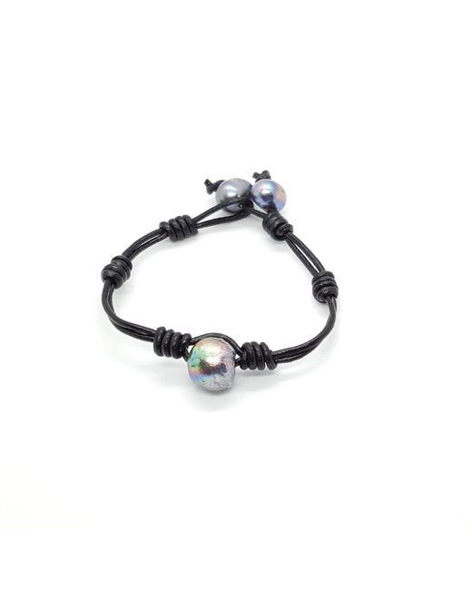 HEIMARIES | Black Pearl In Motion Bracelet for Men | Lyst