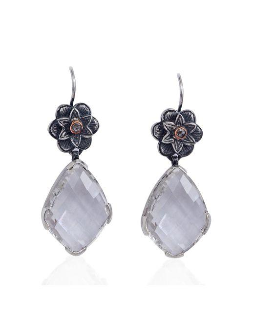 Emma Chapman Jewels | White Talini Chandelier Earrings | Lyst