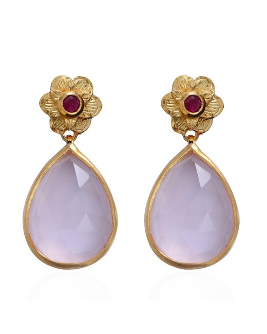 Emma Chapman Jewels | Purple Adila Rose Quartz Earrings | Lyst