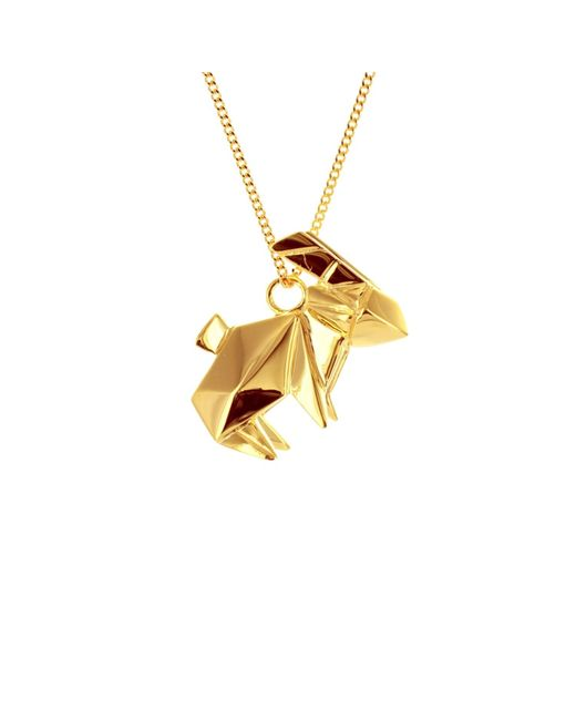 Origami Jewellery | Metallic Rabbit Necklace Gold Plated | Lyst