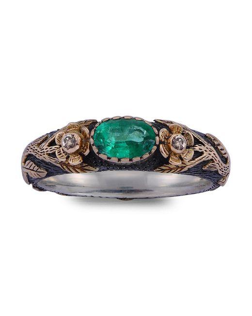 Emma Chapman Jewels | Green Luna Emerald Ring | Lyst