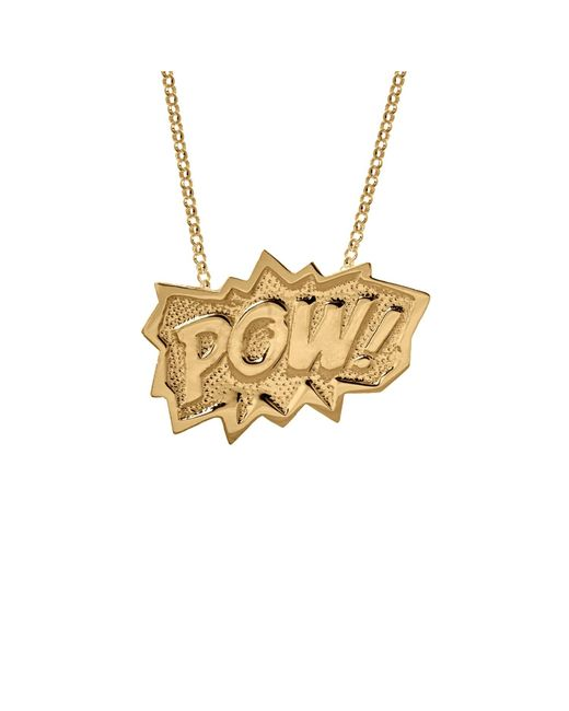 Edge Only   Metallic Pow Pendant Extra Large Long In Gold   Lyst