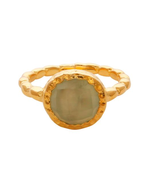 Carousel Jewels - Metallic Chalcedony Gold Textured Ring - Lyst
