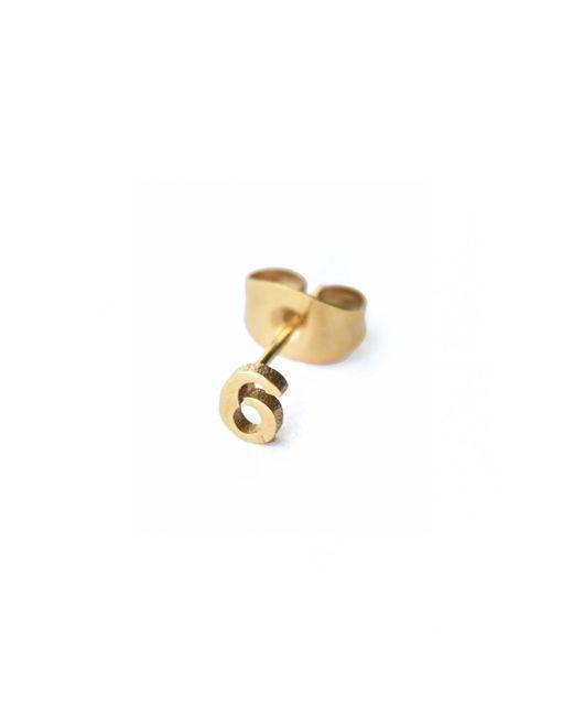 Whistle & Bango | Metallic Little Number 6 Earring 18ct Plating | Lyst
