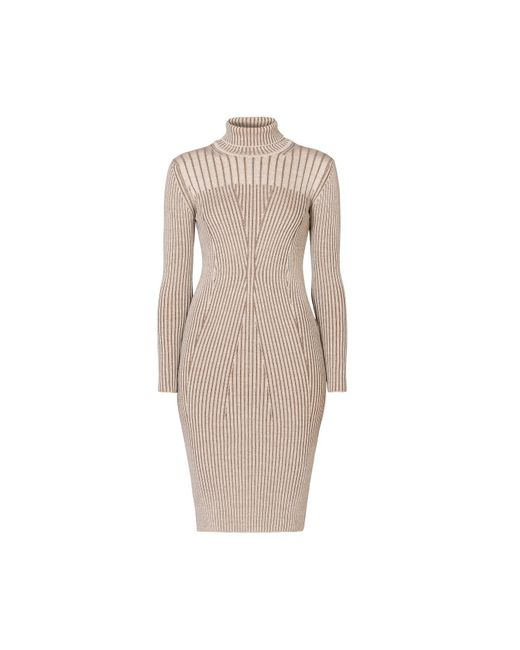 Rumour London - Multicolor Cleo Oatmeal Two-tone Ribbed Knit Dress - Lyst