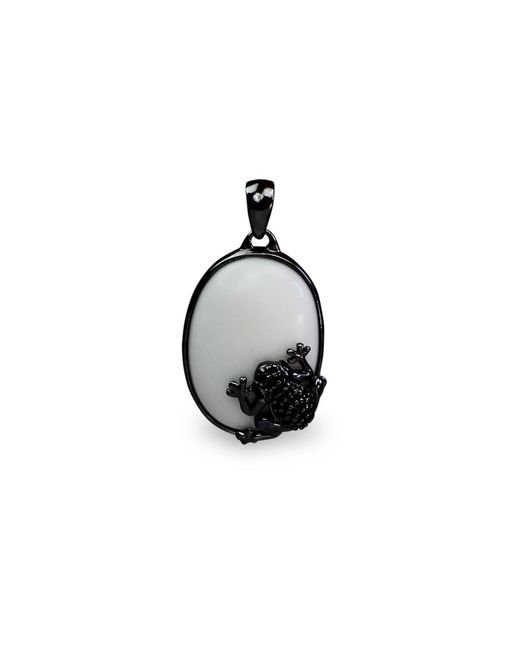Bellus Domina | White The Prince Frog Pendant | Lyst